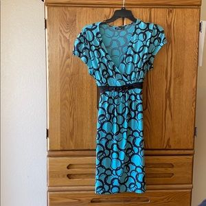 Turquoise and black dress extra-large xl